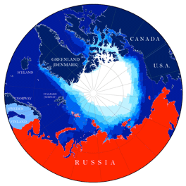 Possible view of Russia and greater Arctic region as of 2021