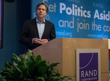 U.S. Deputy Secretary of State Antony Blinken at RAND's Politics Aside event in Santa Monica, November 12, 2016