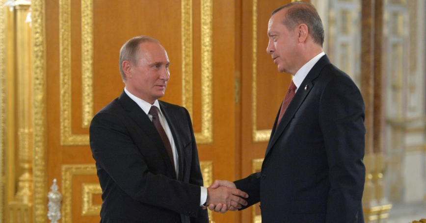 Russian President Putin and Turkish President Erdogan meet to sign a bilateral agreement on construction of the TurkStream undersea gas pipeline in Istanbul, Turkey, October 10, 2016