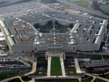 The Pentagon, headquarters of the United States Department of Defense, taken from an airplane in January 2008