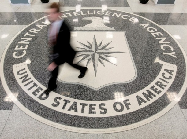 The lobby of the CIA Headquarters Building in Langley, Virginia
