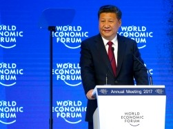 Chinese President Xi Jinping attends the World Economic Forum annual meeting in Davos, Switzerland, January 17, 2017