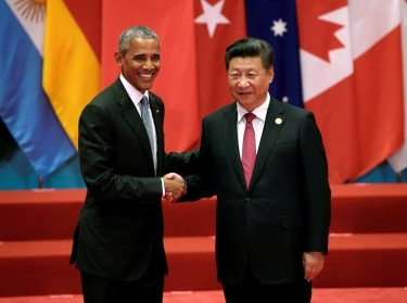 U.S. President Barack Obama and Chinese President Xi Jinping at the G20 Summit in Hangzhou, Zhejiang province, China, September 4, 2016