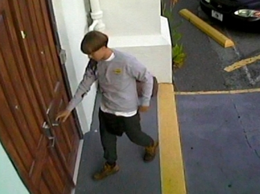 CCTV footage released by the Charleston Police Department of a suspect wanted in connection with the shooting of several people at Emanuel African Methodist Episcopal Church, June 6, 2015.