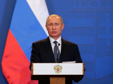 Russian President Vladimir Putin speaks during a news conference following the talks with Hungarian Prime Minister Viktor Orban in Budapest, Hungary, February 2, 2017