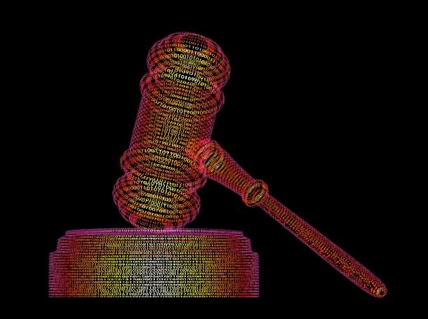 Cyber gavel illustration