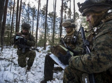 U.S. Marines were among 4,000 soldiers from 11 NATO countries who participated in Exercise Iron Sword 16 in Lithuania