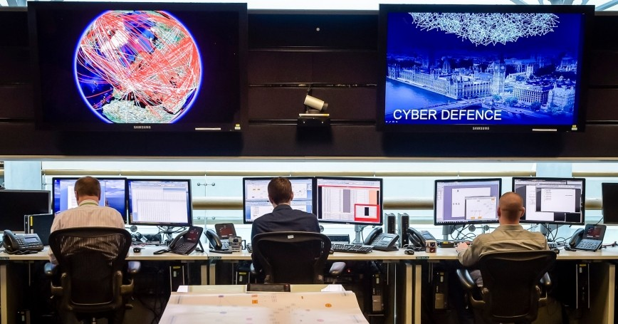 The 24-hour Operations Room inside GCHQ, Cheltenham, UK, November 17, 2015