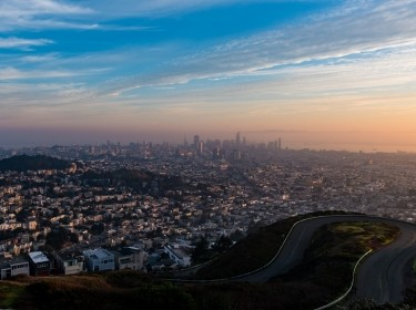 View of San Francisco at sunrise