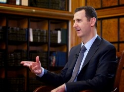 In an interview with Russian state television on September 12, 2013, Syria's President Bashar al-Assad said Damascus would send documents to the United Nations needed to join a convention that prohibits chemical weapons