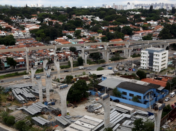 An unfinished monorail project in Sao Paulo, Brazil, March 3, 2016