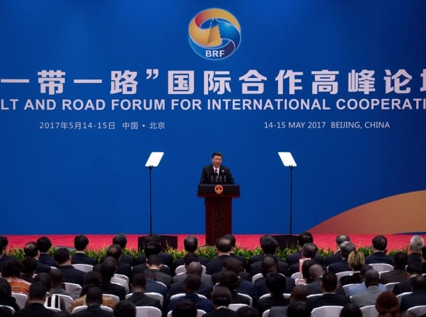 Chinese President Xi Jinping speaks during a briefing on the final day of the Belt and Road Forum, at the Yanqi Lake International Conference Centre, north of Beijing, China May 15, 2017.