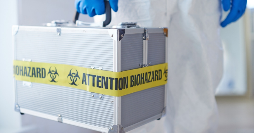 Suitcase with microbiological weapon