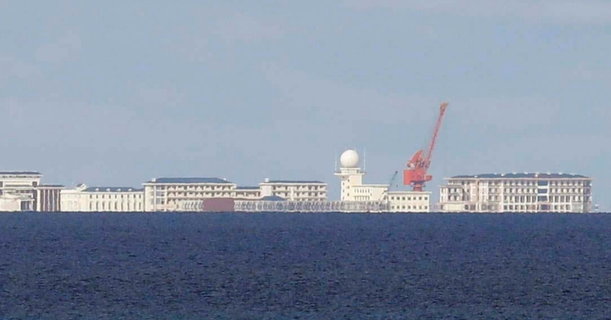 Chinese structures in Subi Reef, a disputed part of the South China Sea, April 21, 2017
