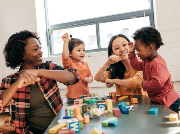 Preschool children and teachers