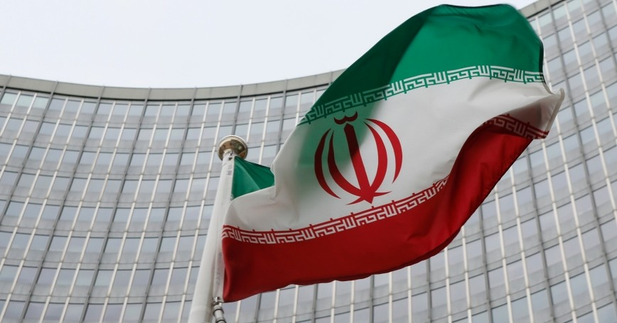 An Iranian flag flutters in front of the International Atomic Energy Agency headquarters in Vienna, Austria, January 15, 2016