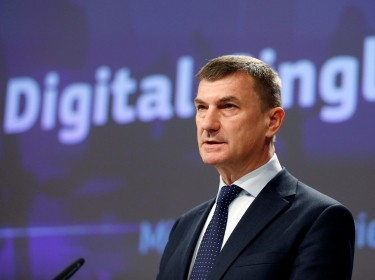 European Commission Vice-President Andrus Ansip addresses a news conference on Digital Single Market at the EU Commission headquarters in Brussels, Belgium May 10, 2017