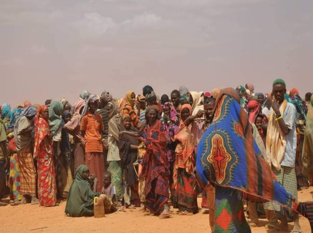 People displaced by drought in Somalia arrive at the Dolo Ado camp in neighboring Ethiopia and queue to be registered by the aid agencies running the camp