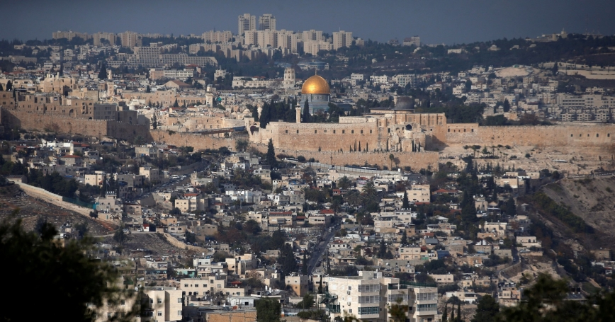 Jerusalem's Old City and the Dome of the Rock, December 5, 2017