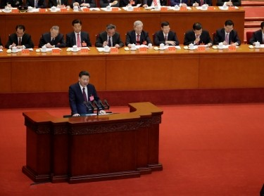 Chinese President Xi Jinping delivers his speech during the opening session of the 19th National Congress of the Communist Party of China at the Great Hall of the People in Beijing, China October 18, 2017