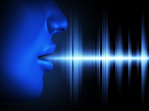 Conceptual image of human voice