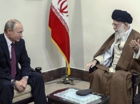 Russian President Vladimir Putin (L) meets with Iranian Supreme Leader Ayatollah Ali Khamenei in Tehran, Iran, November 1, 2017
