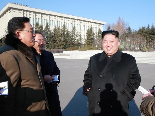 North Korean leader Kim Jong Un visits the national science centre, in Pyongyang, North Korea, January 12, 2018