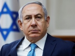 Israeli Prime Minister Benjamin Netanyahu attends a weekly cabinet meeting, Jerusalem, February 11, 2018