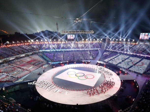 Opening Ceremony of the 2018 Winter Olympics in Pyeongchang, South Korea, February 9, 2018