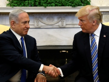 U.S. President Donald Trump meets with Israel Prime Minister Benjamin Netanyahu in the Oval Office of the White House in Washington, U.S., March 5, 2018