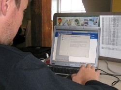 A man tests Estonia's internet voting system in Tallinn, February 19, 2007
