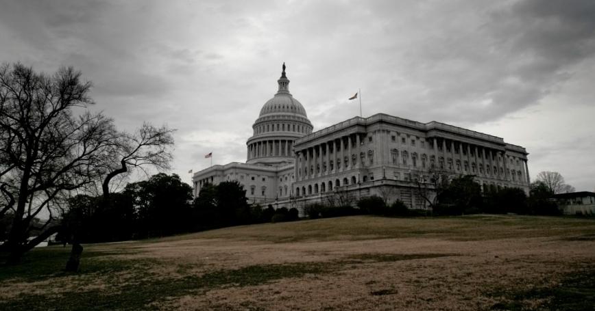 U.S. Capitol Washington, D.C., with storm clouds
