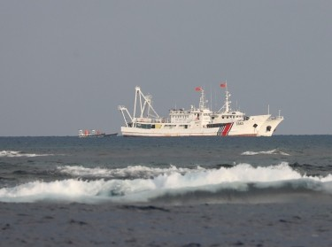 China Coast Guard vessels at the disputed Scarborough Shoal, April 5, 2017