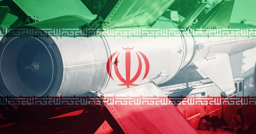 Iran flag and ICBM