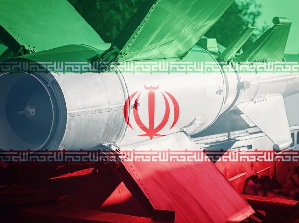 Iran flag and ICBM