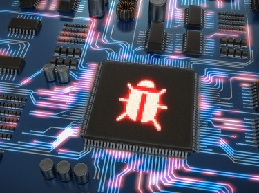 Malware or virus inside microchip on electronic circuit