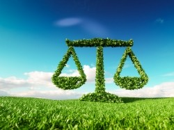 Eco-friendly law and eco balance concept