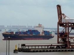 Shipping containers at a port in Shanghai, China, July 10, 2018