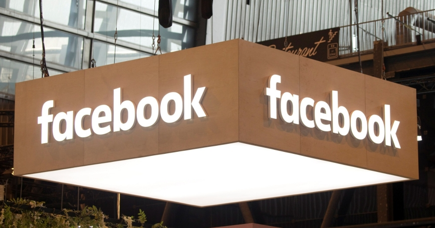 The Facebook logo is pictured during the Viva Tech start-up and technology summit in Paris, France, May 25, 2018