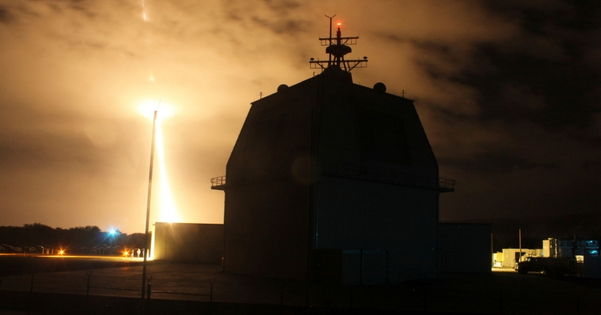 The Missile Defense Agency conducts the first intercept flight test of a land-based Aegis Ballistic Missile Defense weapon system from the Aegis Ashore Missile Defense Test Complex in Kauai, Hawaii, December 10, 2015