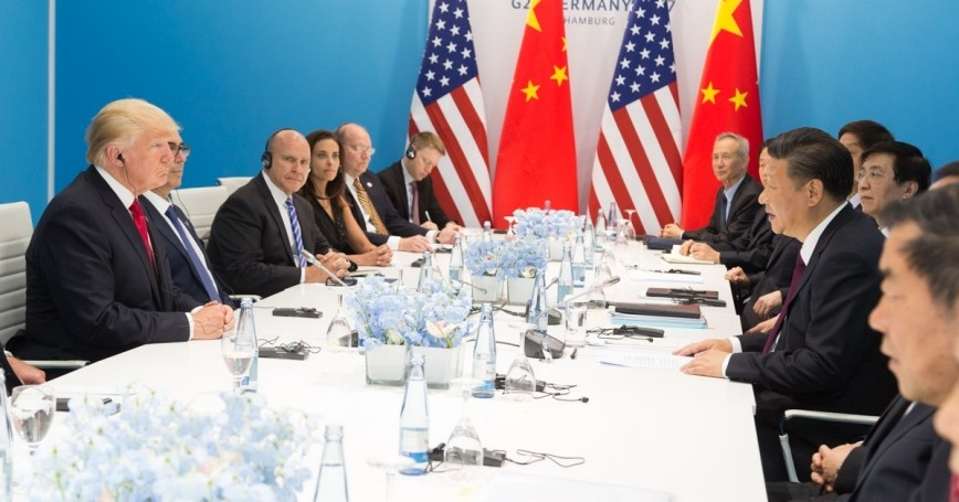 President Donald J. Trump and President Xi Jinping at the G20 summit, July 8, 2017