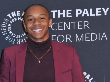 DeRon Horton, who plays Lionel Higgins on 'Dear White People,' arrives at the Paley Center for Media in Beverly Hills, California, June 5, 2018