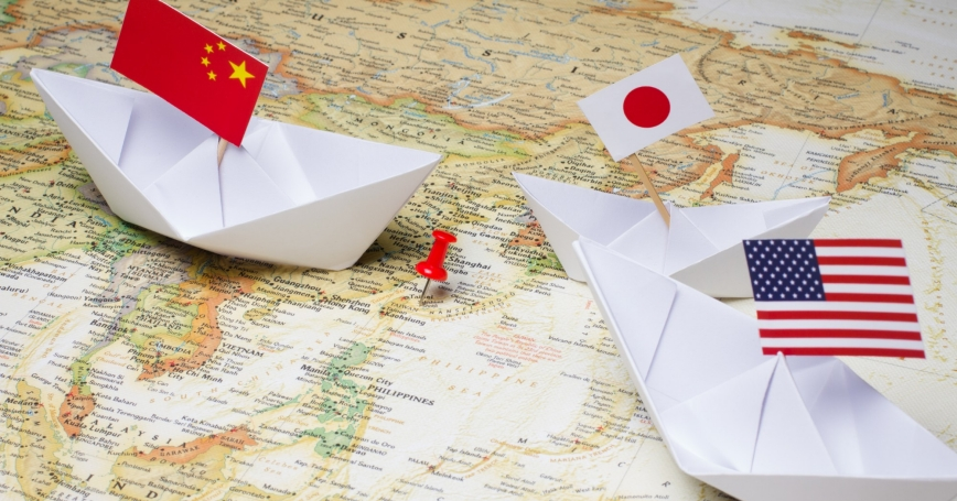 Map Of America And Japan.The Implications Of U S China Trade Tensions For Japan Rand