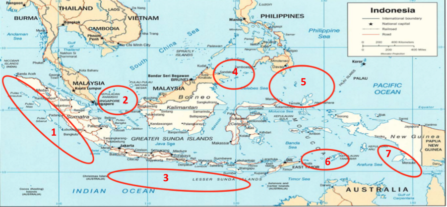 Figure 1. Indonesia's priority areas for patrolling activities