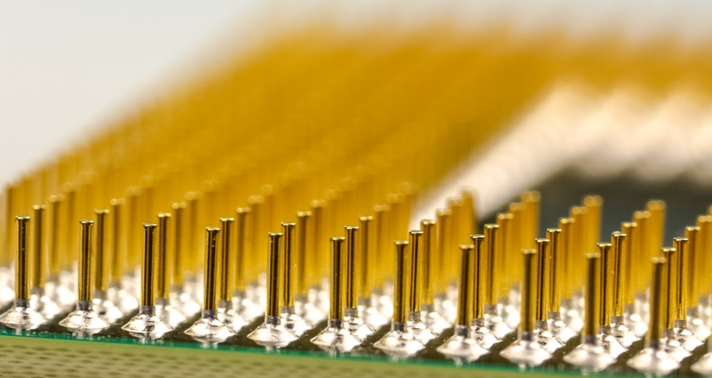 Processor pins of a microchip