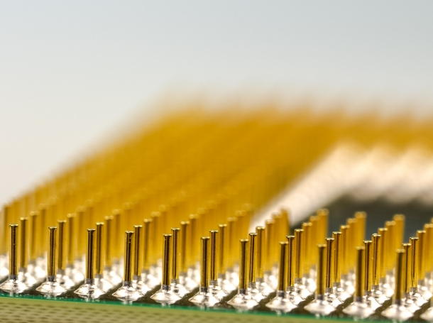 Processor pins of a microchip
