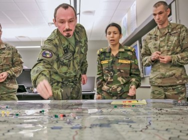 Wargaming at the U.S. Army Command and Staff College on Fort Leavenworth, Kansas,  March 9, 2018