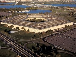 Aerial view of the Pentagon in Washington, D.C.