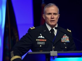 Defense Intelligence Agency director Lt. Gen. Robert Ashley, during the 2018 Department of Defense Intelligence Information System Worldwide Conference in Omaha, Nebraska, August 13, 2018