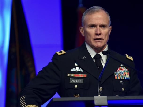 Defense Intelligence Agency director Lt. Gen. Robert Ashley, during the 2018 Department of Defense Intelligence Information System Worldwide Conference in Omaha, Nebraska, August 13, 2018